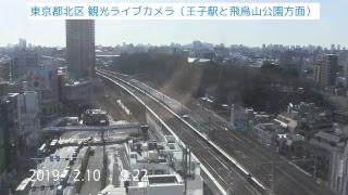東京都北区 観光ライブカメラ (王子駅と飛鳥山公園) thumbnail