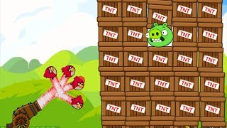 Angry Birds Collection Birds 1 - HIT 100 TNT TO EXPLODE THE HUGE PIGGIES LEVELS!