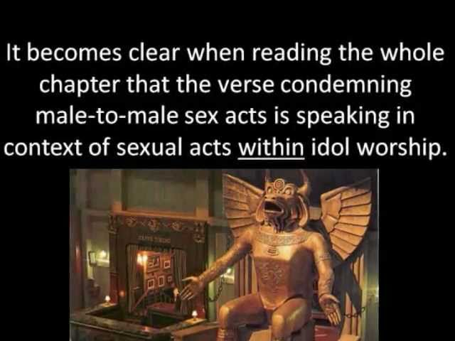 Homosexuality In The Bible An Alternative Perspective Writings