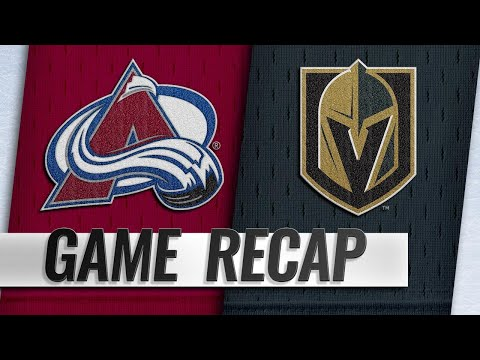 Stastny, Fleury lead Golden Knights past Avalanche