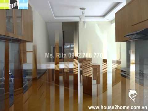 Basic furniture villa for rent in My Phu, Phu My Hung, Dist 7, HCMC 2000$/month.