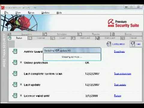 Avira Antivirus  Update Manually
