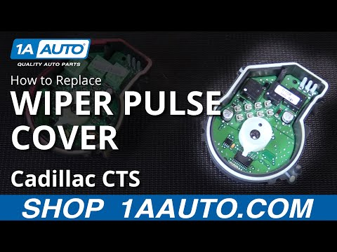 How to Replace Install Windshield Wiper Pulse Cover 06 Cadillac CTS