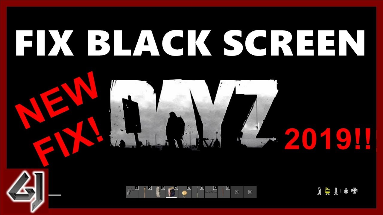 7 days to die black screen
