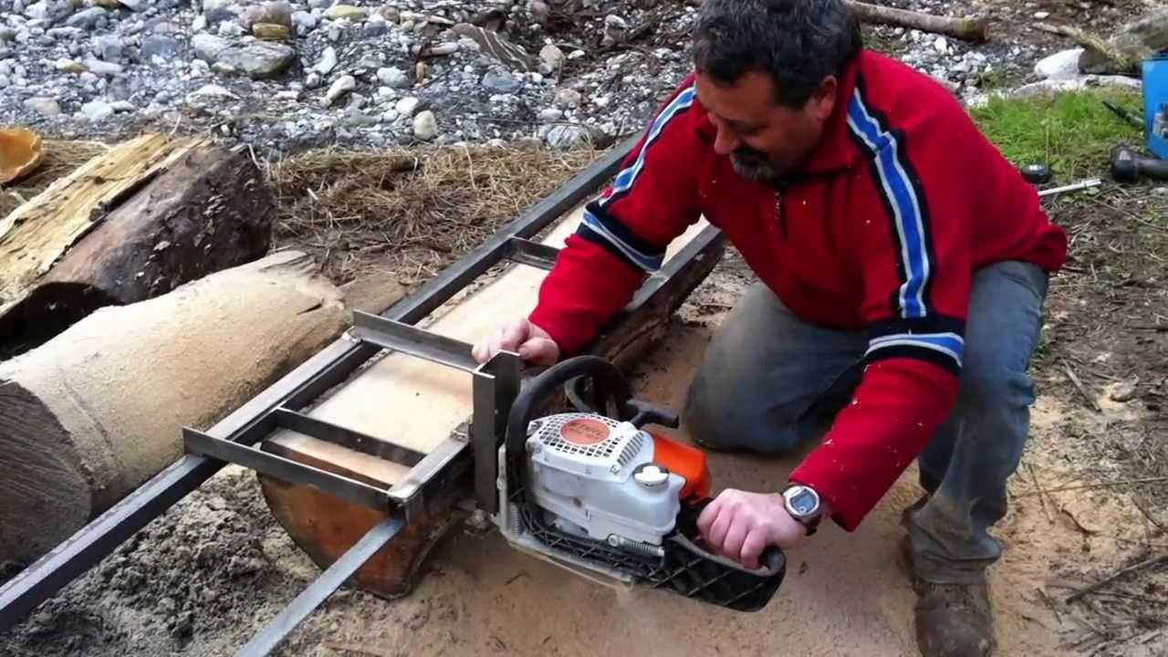 Come ricavare tavole da un tronco con il motosega youtube - Tavole di legno per edilizia ...