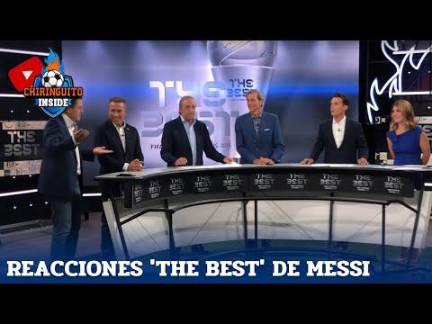 A reacción de Pedrerol ao anuncio do 'The Best' para Messi