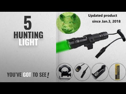 Top 10 Hunting Light [2018]: Ulako Green Light LED Coyote Hog Pig Varmint Predator Hunting Light