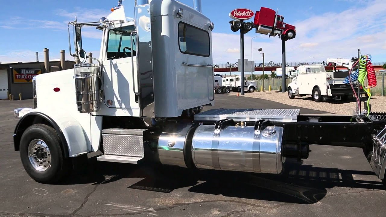 Peterbilt Day Cab For Sale >> 2015 Peterbilt 389 Heavy Haul Extended Day Cab, 20K Front, 46K Rear - YouTube