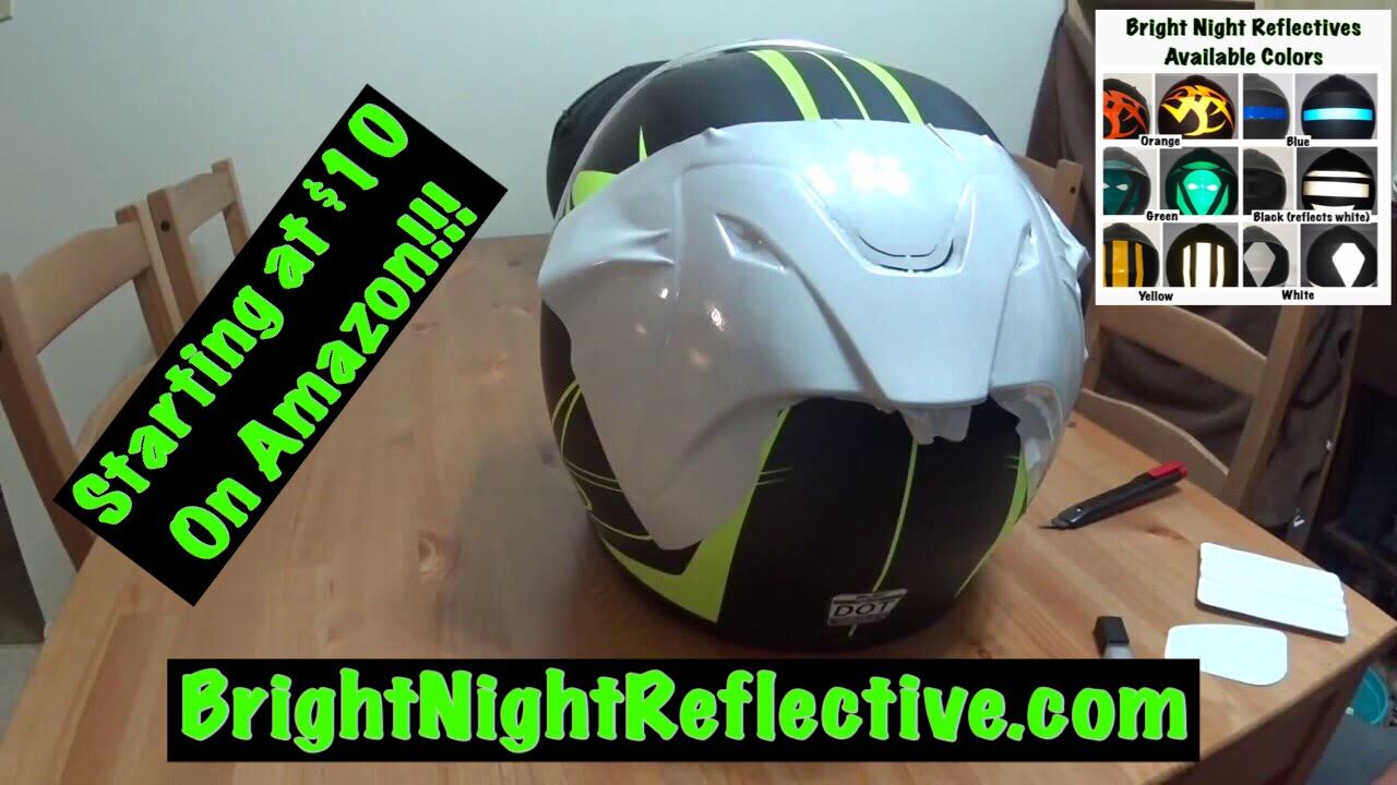Adding Reflective Vinyl To A Helmet M Cr YouTube - Motorcycle helmet decals graphicsappliedgraphics high visibility reflective motorcycle decals