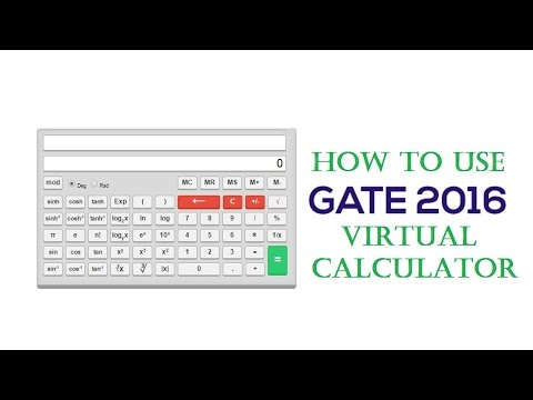 How to use GATE 2016 online virtual calculator
