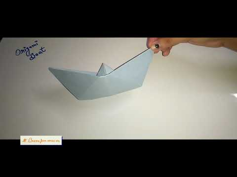 #OrigamiBoat |  How to Make a Paper Boat | Easy Origami Boat Step by Step Tutorial - Bumpnmum