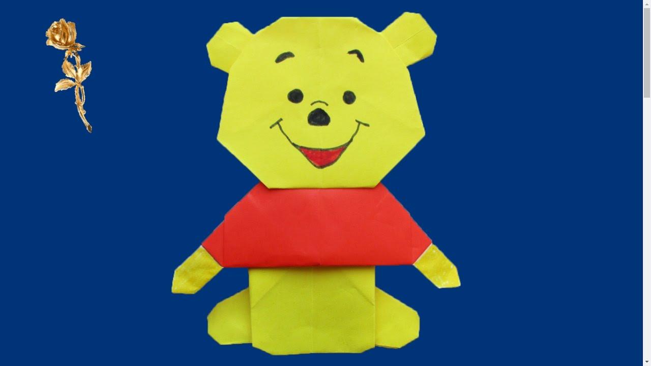Origami Winnie Le Ourson Winnie The Pooh