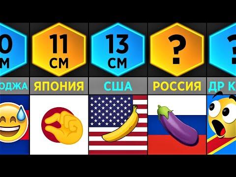 Средний Размер Члена (Сравнение Стран)