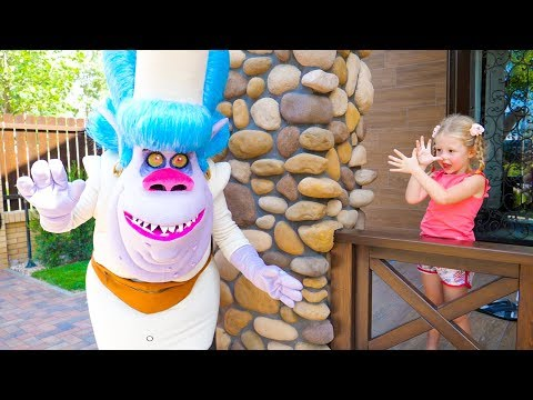 Nastya pretend play in the magic country of trolls