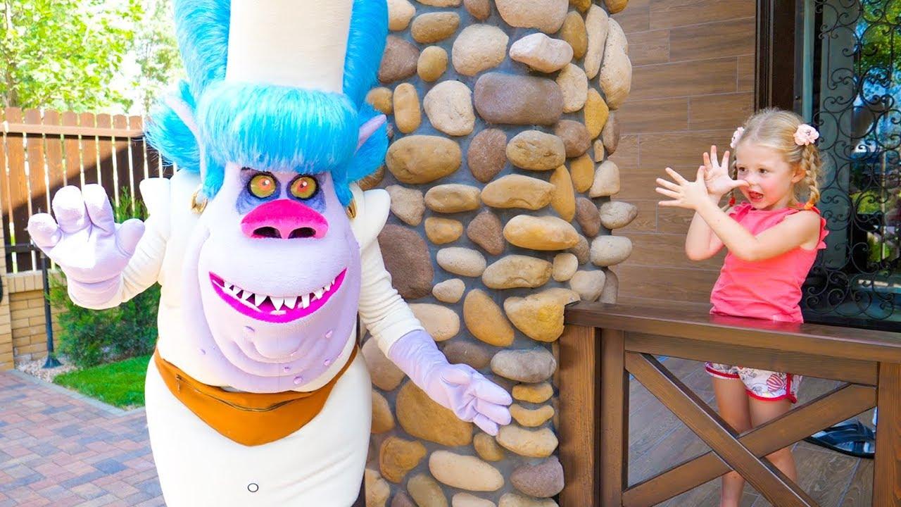 Настя и волшебная страна тролей / Nastya pretend play in the magic country of trolls