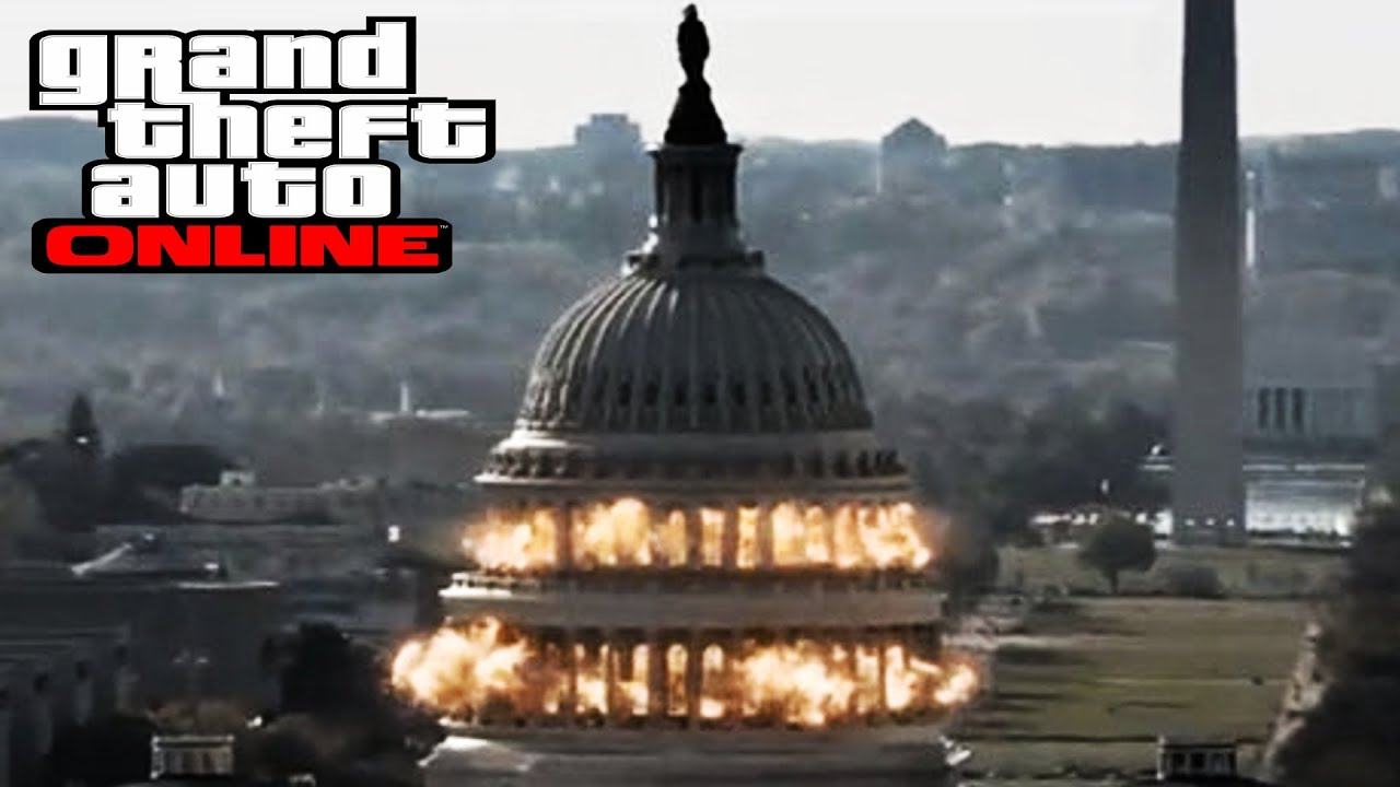 GTA 5 ONLINE Heist White House Down Movie Scene DNB Music GTA