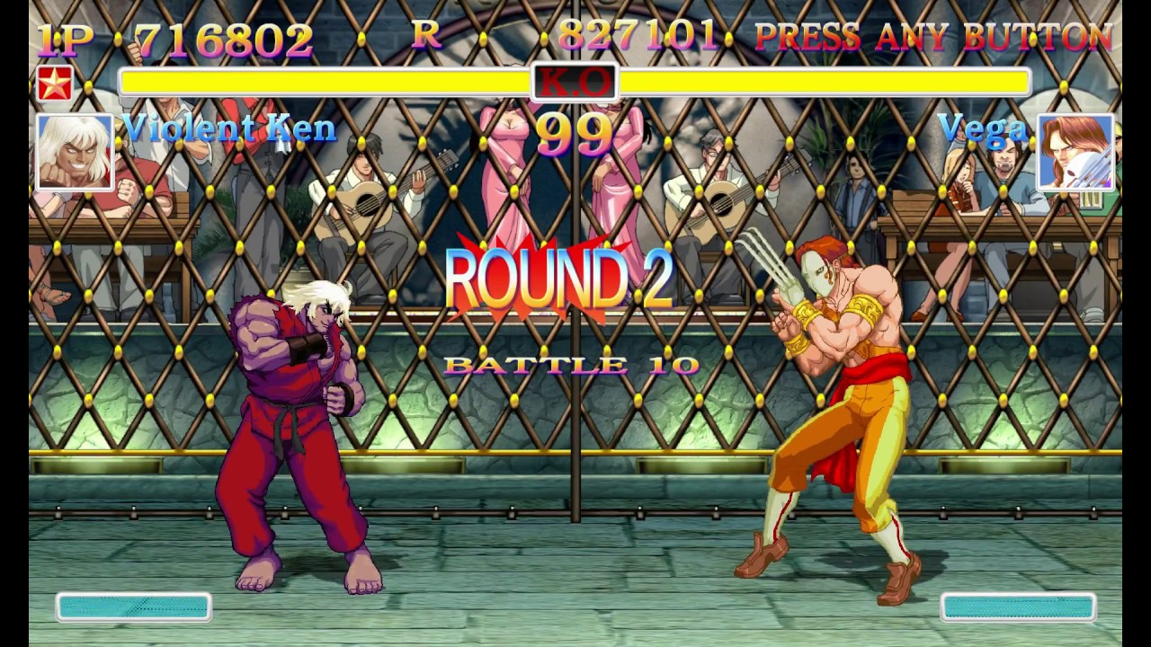 Ultra Street Fighter 2 Violent Ken arcade mode playthrough Classic Style Sounds (Tough difficulty)