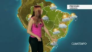 Previsão Brasil - Sábado quente e com chuva