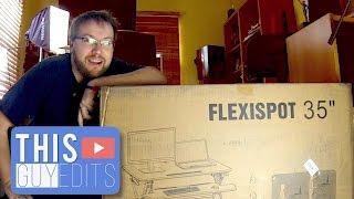 """Standing Desk Review: Flexispot 35"""" Sit Stand Desk Riser"""