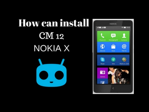 How to install CM12 lollipop Rom IN NOKIA X