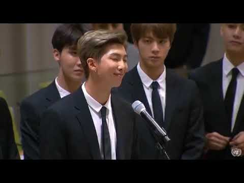 "[ENG CC] BTS SPEECH at UNICEF: ""Youth 2030: The UN Youth Strategy"" #Youth2030⁠ ⁠ #BTSxUnitedNations"