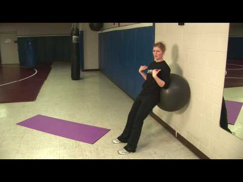 Stability Ball:  Wall Squat