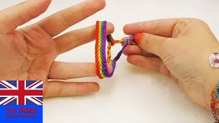 Rainbow Wristband Friendship Bracelet – How to make a colourful gift for your friends – For all ages