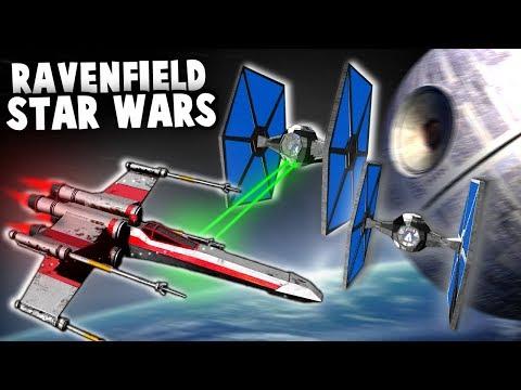 X-WING vs TIE FIGHTERS in Ravenfield!  DeathStar Star Wars Map (Ravenfield New Update Gameplay)