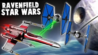 X-WING vs TIE FIGHTERS in Ravenfield!  DeathStar Star Wars Map (Ravenfield New Update Gameplay)