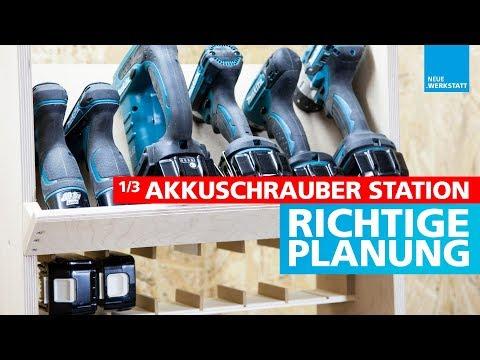 (1/3) Akkuschrauber Halterung / selber bauen / für alle Hersteller geeignet + Ladestation
