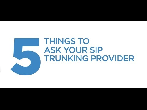 5 Things To Ask Your SIP Trunking Provider