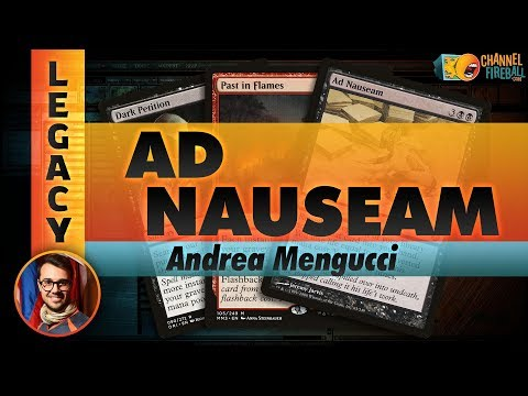 Channel Mengucci  Legacy Ad Nauseam Deck Tech & Matches