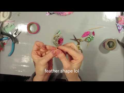Paper Feathers & Washi Feathers - Super easy and fun to make!