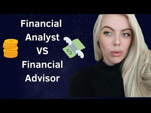 Financial Analyst vs Financial Advisor