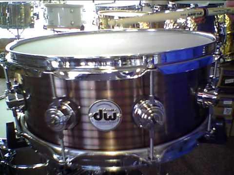 dw vintage stainless steel copper snare drum 5 5 x 14 youtube. Black Bedroom Furniture Sets. Home Design Ideas