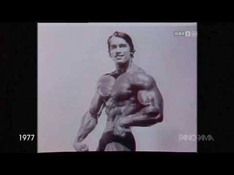Arnold Schwarzenegger 1977 mit Mutti und Freundin
