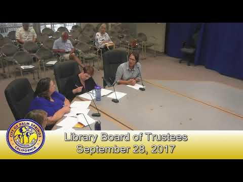 Library Board of Trustees | September 28, 2017
