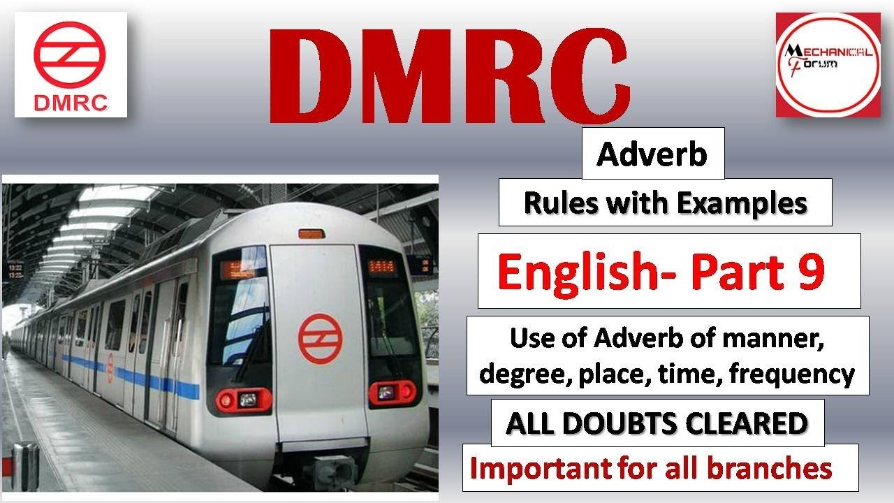 Part 9 Adverb Rules Important Questions English Preparation For