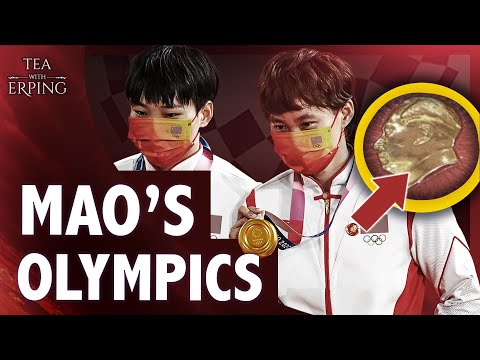 Why did Chinese Olympians Wear Mao's Badges?