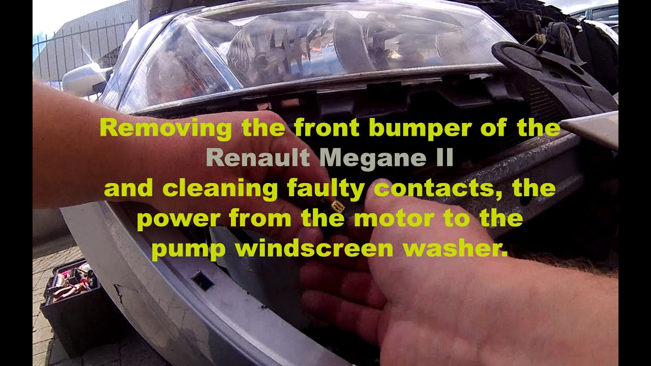 small resolution of removing the bumper and windscreen washer pump repair megane ii