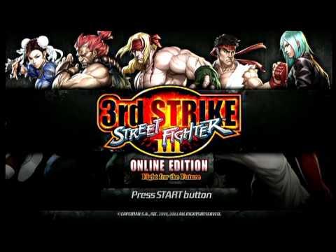 Street Fighter 3 3rd Strike: Online Edition - Title Screen Sound Test
