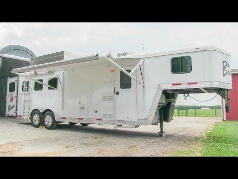 2014 Bison Stratus LT 380 horse trailer w/ living quarters walk-through tutorial video