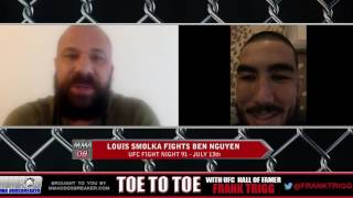 UFC Fight Night 91's Louis Smolka: 'I don't want to engage in the pocket too much'