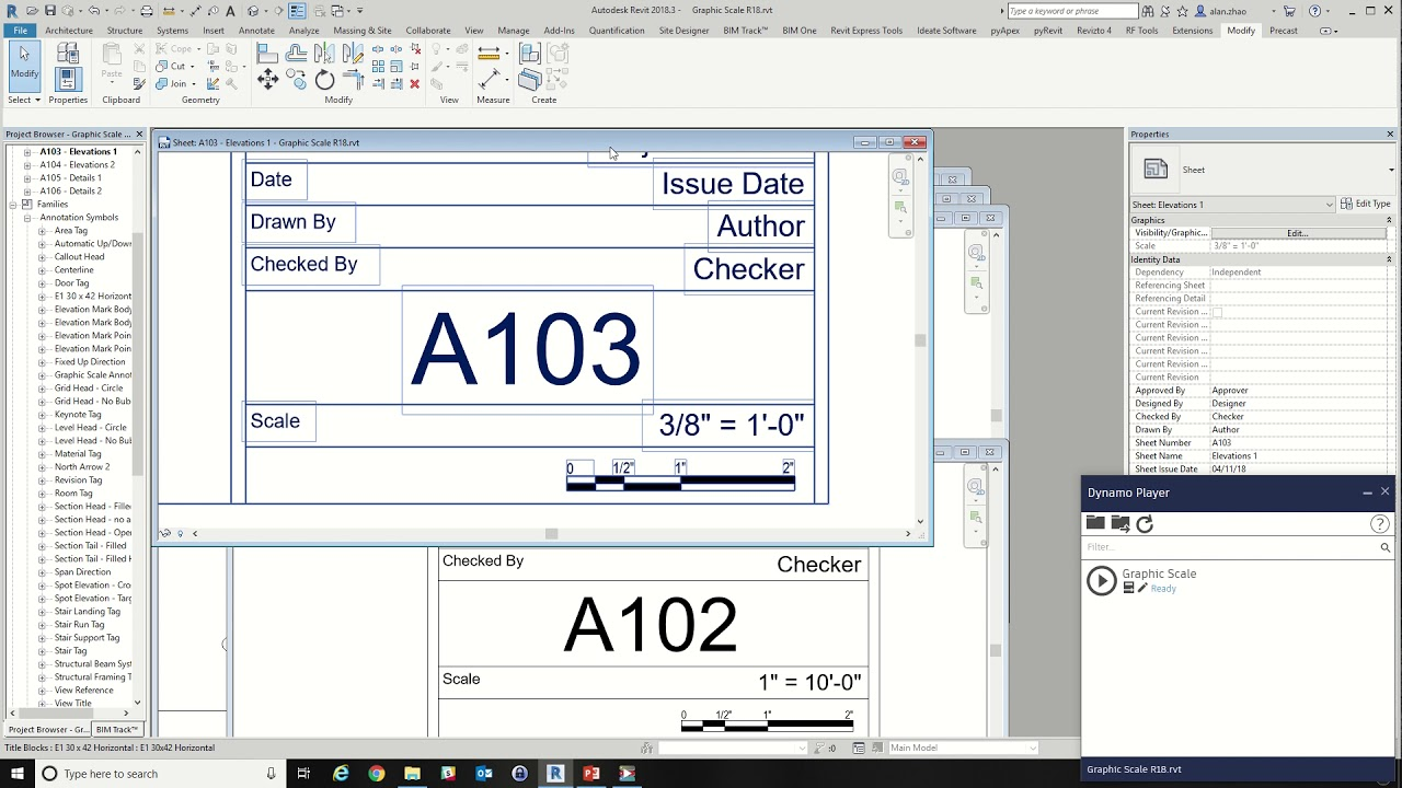 08 Graphic Scale in Revit Sheet