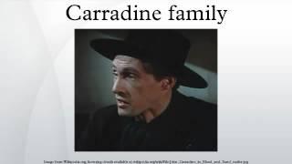 Carradine family
