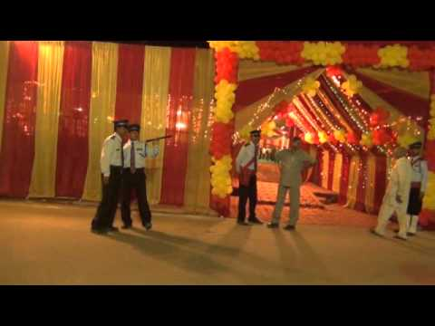 Outside view of Indian wedding tent. & Outside view of Indian wedding tent. - YouTube