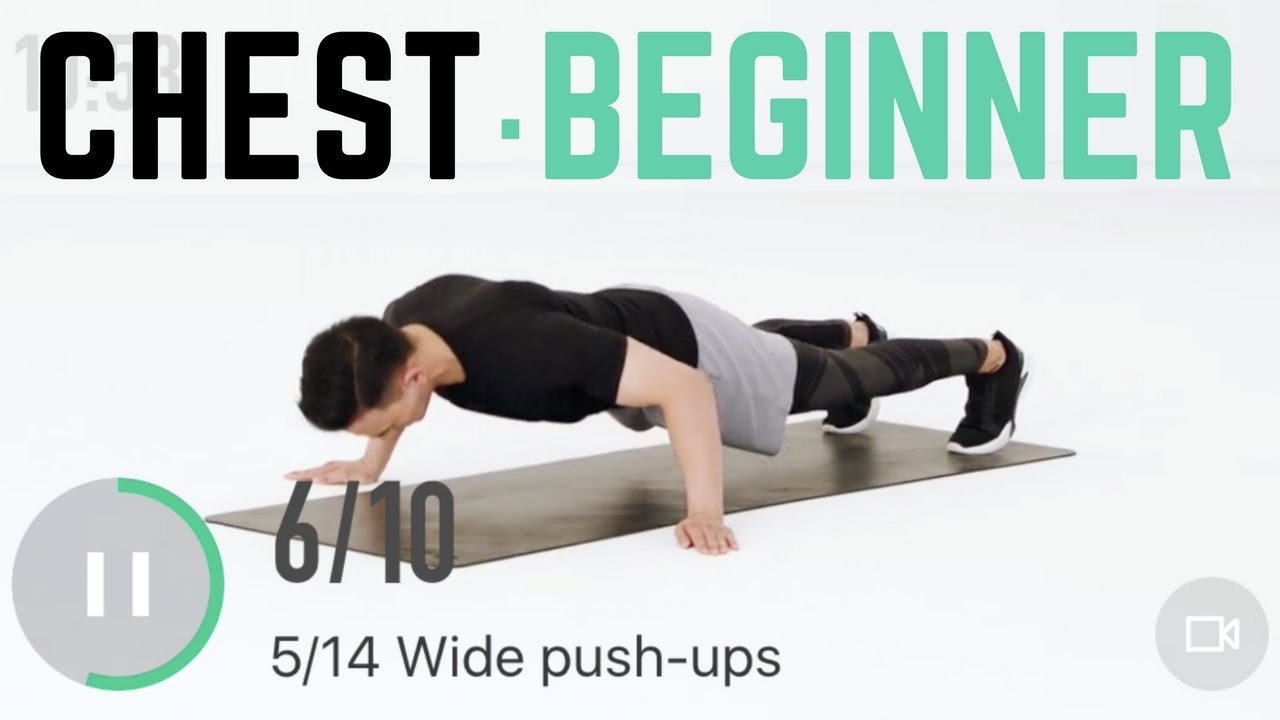 18min Beginner Chest Workout No Equipment Home For Circuit Training Beginners Starters