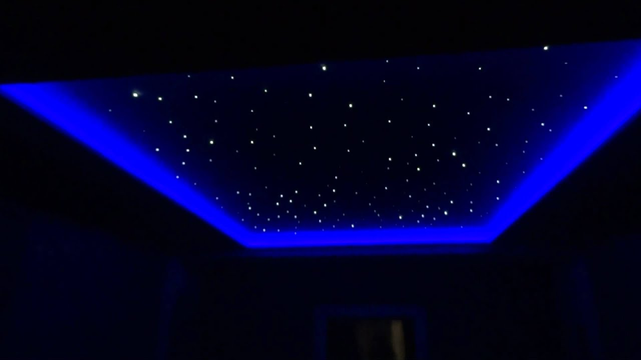 3d Fall Ceiling Wallpaper Star Ceiling In Cinema Room Youtube
