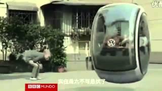 China  El futuro en un carro flotante Volkswagen