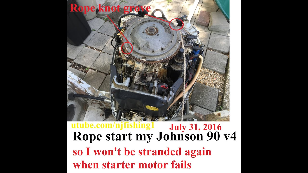 Have anyone tried rope starting a big johnson outboard for How to tell if garbage disposal motor is burned out